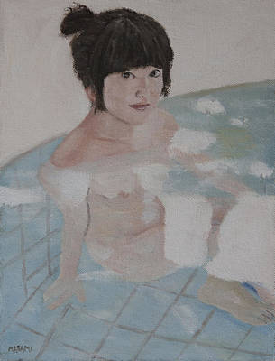 Painting - Hot Spring by Masami Iida
