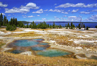 Photograph - Hot Springs At Yellowstone Lake by Carolyn Derstine
