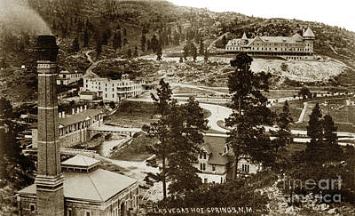 Photograph - Hot Springs Hotel, Las Vegas, New Mexico by California Views Mr Pat Hathaway Archives