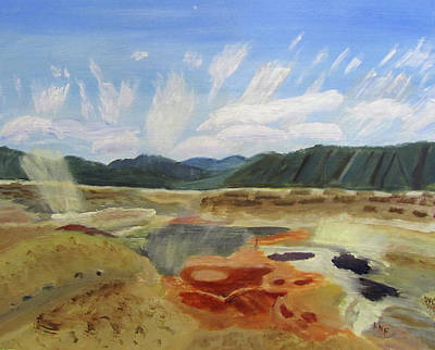 Painting - Hot Springs by Linda Feinberg