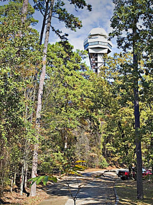 Photograph - Hot Springs Mountain Tower_1a by Walter Herrit