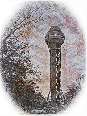Digital Art - Hot Springs Mountain Tower_2c by Walter Herrit