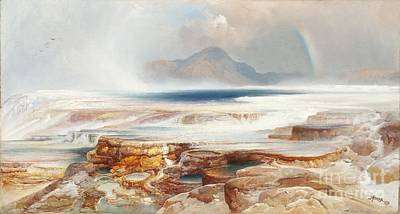 Painting - Hot Springs Of The Yellowstone by Celestial Images