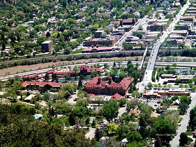 Photograph - Hot Springs Spa At Glenwood Springs - A Birds Eye View by Christine S Zipps