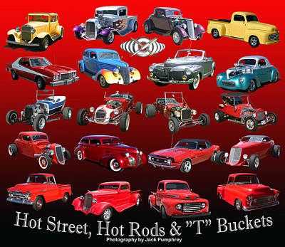 Hot Street And Hot Rods Art Print