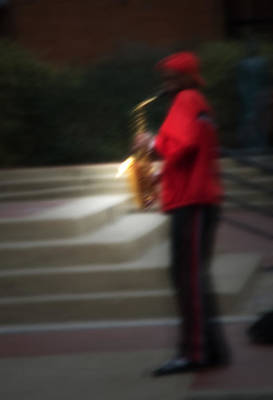Saxophone Photograph - Hot Street Sax by Fred Lassmann