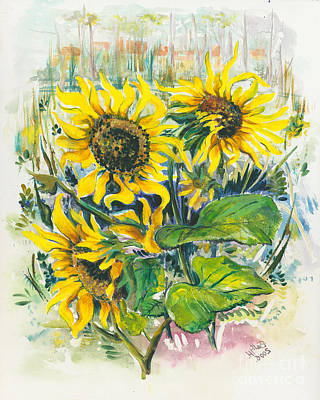 Hot Summer Day 3 Art Print by Elisabeta Hermann