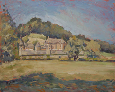 Painting - Hot Summer Day At Chateau Neercanne by Nop Briex