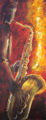 Music Paintings - Hot Summer Night part 1 of 3 by Kathleen Tucker