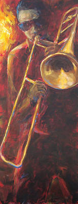 Music Paintings - Hot Summer Night part 3 of 3 by Kathleen Tucker