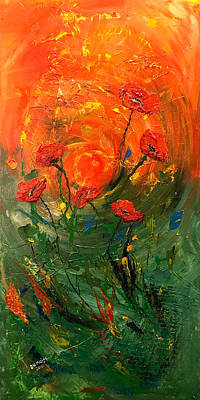 Painting - Hot Summer Poppies by Dorothy Maier