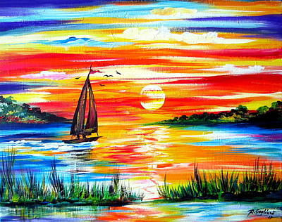 Painting - Hot Summer Sunset  by Roberto Gagliardi