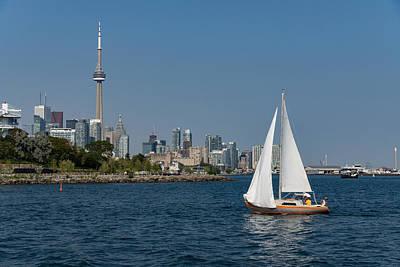 Photograph - Hot Summer - The Joy Of Yachting In Toronto by Georgia Mizuleva