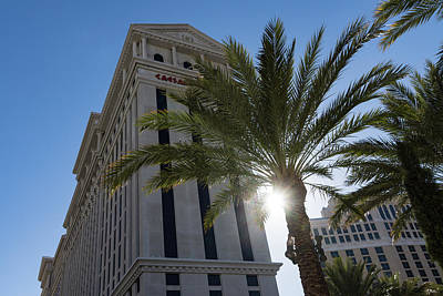 Photograph - Hot Sun And Blue Skies - Caesars Palace Las Vegas by Georgia Mizuleva
