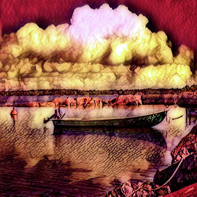 Photograph - Hot Sunset In The Harbor by Debra and Dave Vanderlaan