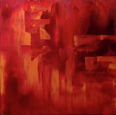 Painting - Hot Sunset by Johanna Hurmerinta