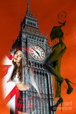 Digital Art - Hot Times In London by John Rizzuto
