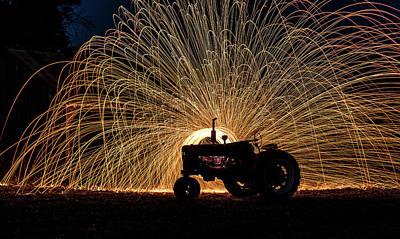 Photograph - Hot Tractor  by Willard Sharp