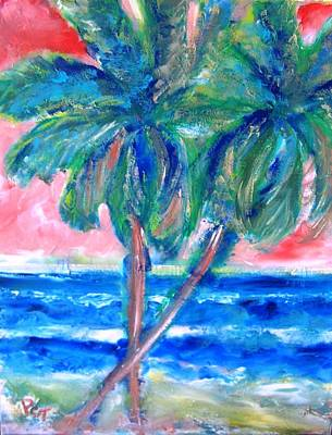Painting - Hot Tropics With Palm Trees by Patricia Taylor