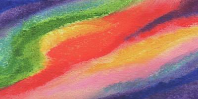 Painting - Hot Vivid Rainbow Abstract Decor IIi by Irina Sztukowski