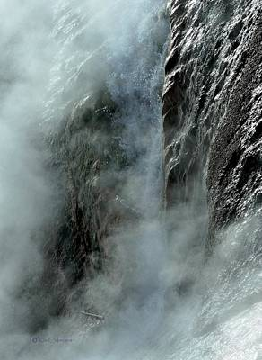 Photograph - Hot Water Into Cold Makes Steam by Kae Cheatham