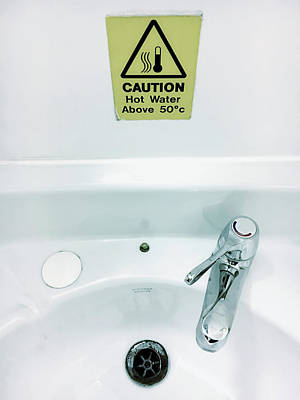 Stickers Photograph - Hot Water Warning by Tom Gowanlock