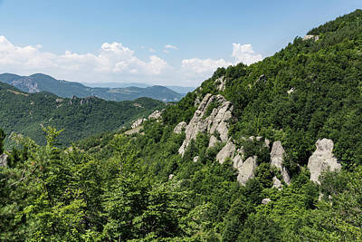 Photograph - Hot White Rocks - A Summer Landscape In The Mountains by Georgia Mizuleva