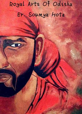Sai Faces Painting - Sai Baba by Er Soumya Ranjan