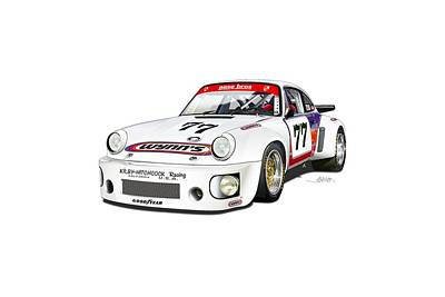 Drawing - Hotchkis Rsr Lm 1980 by Alain Jamar