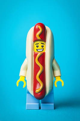 Hotdog Dude Art Print by Samuel Whitton