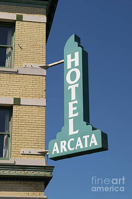 Photograph - Hotel Arcata Arcata California Dsc5383 by Wingsdomain Art and Photography