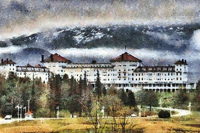 Hotel At Mount Washington Art Print