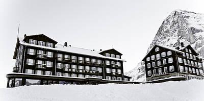 Eiger Photograph - Hotel Bellevue Des Alpes And Eiger Nordwand by Frank Tschakert