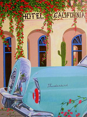 Wall Art - Painting - Hotel California by Chris MacClure