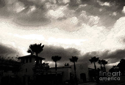 Photograph - Hotel California Ink by Linda Shafer