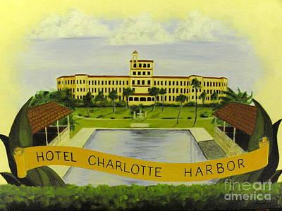 Punta Gorda Painting - Hotel Charlotte Harbor by Charles Peck