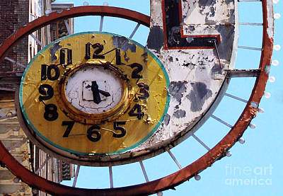Photograph - Hotel Clock by Ethna Gillespie
