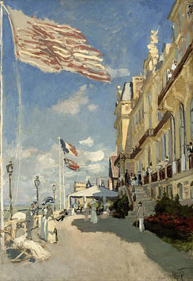 Streetscape Painting - Hotel De Roches Noires, Trouville by Claude Monet