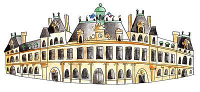 Painting - Hotel De Ville by Anna Elkins