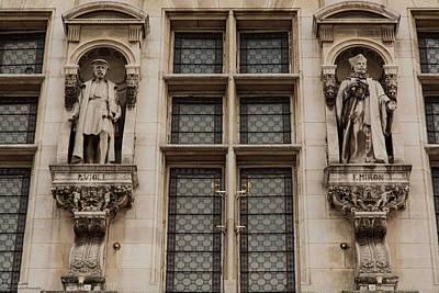 Photograph - Hotel De Ville Details - 2 - Important Figures  by Hany J