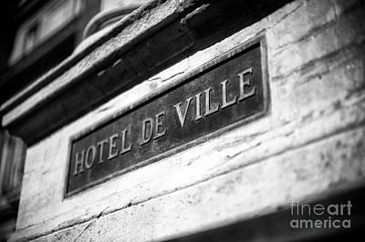 Photograph - Hotel De Ville by John Rizzuto