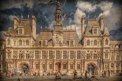 Photograph - Paris, France - Hotel De Ville by Mark Forte