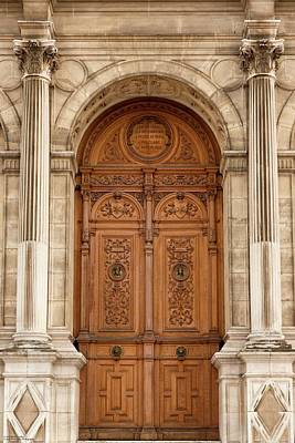 Photograph - Hotel De Ville - One Of These Doors  by Hany J