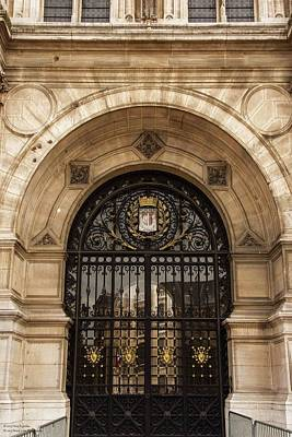 Photograph - Hotel De Ville - One Of These Gates by Hany J