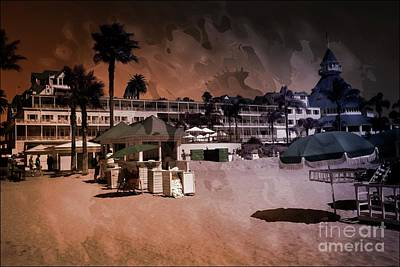 Mixed Media - Hotel Del Coronado California by Bob Pardue