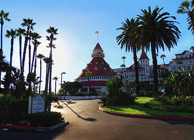 San Diego Artist Photograph - Hotel Del Coronado  by Gordon Beck