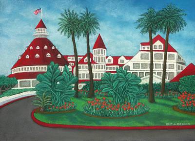 Pastel - Hotel Del Coronado by Michael Heikkinen