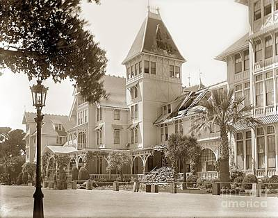 Photograph - Hotel Del Monte After The 1906 Earthquake by California Views Mr Pat Hathaway Archives