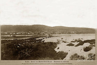 Photograph - Hotel Del Monte, Del Monte Bathhouse, Monterey In Distance, View 1890 by California Views Mr Pat Hathaway Archives