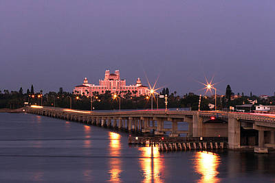 Florida Bridge Photograph - Hotel Don Cesar The Pink Palace St Petes Beach Florida by Mal Bray